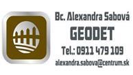 GEODET - Bc. Alexandra Sabová