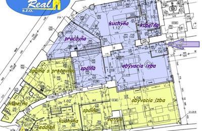3-Zimmer-Wohnung, Verkauf (Angebot), Prešov - Hlavná - pešia zóna